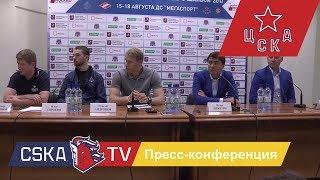 Клубная пресс-конференция ПХК ЦСКА на Кубке мэра Москвы