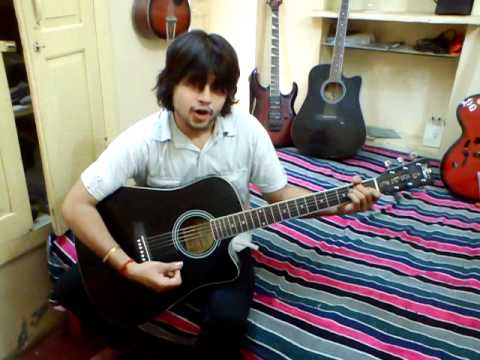 jab koi baat bigad jaye - Guitar and whistle cover by me (Himanshu...