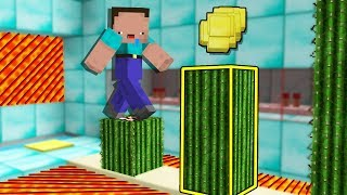 DOS NOOBS VS TRAMPAS DE CACTUS EN MINECRAFT 😆 NOOBS VS PARKOUR MAPA MINECRAFT