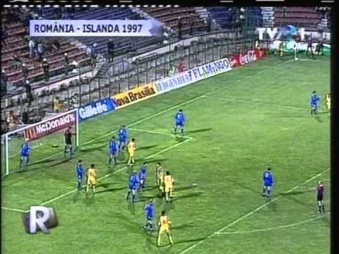 1997 (September 10) Romania 4-Iceland 0 (World Cup Qualifier)(one goal missing)