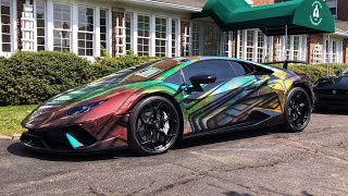 PreSenTing Lamborghini Huracan PERFORMANTE 640-4 In Orion Nebula Wrap - Fairview Country Club