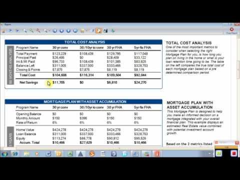 loan comparison spreadsheet