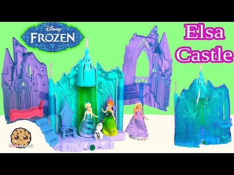 Disney Frozen Queen Elsa Magical Lights Palace Castle Playset with Olaf Doll Toy Review Video