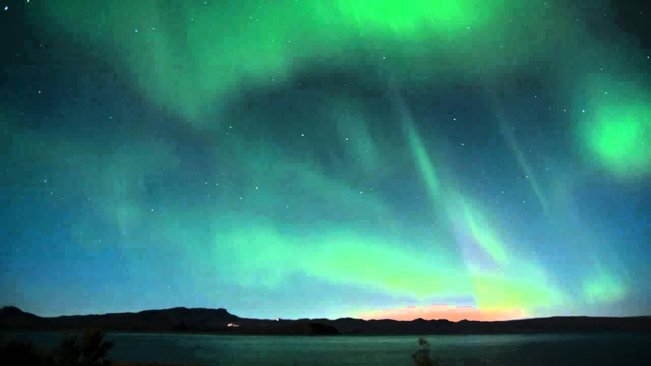 aurora borealis northern lights timelapse movie iceland