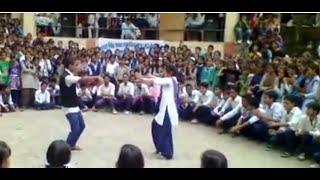 Students Dancing In School   Boy's And Girl's dance