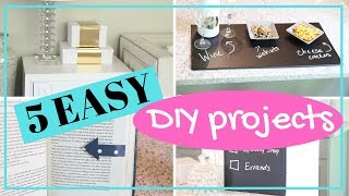 5 EASY DIY Projects to TRY! Cute crafts & decor under 5 minutes!