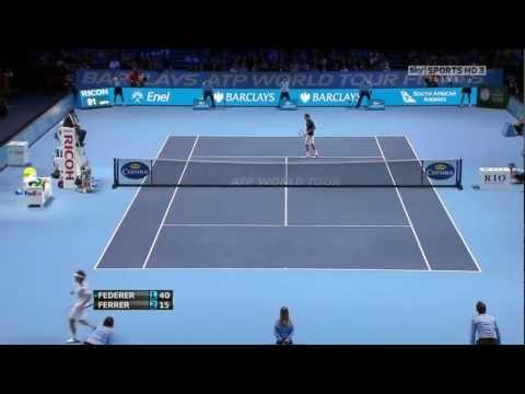 ATP World Tour Finals 2011 Halve Finale - Roger Federer vs David Ferrer
