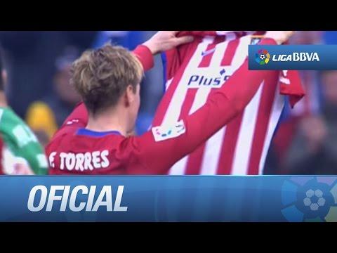 Fernando Torres marca el gol 100 con la camiseta del Atlético de Madrid