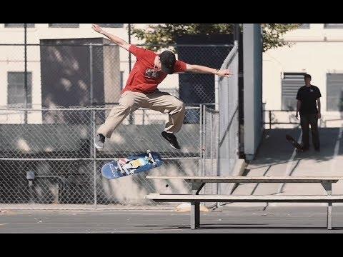 Front Krook Nollie Flip LA Picnic Table - Tobias Mullerdud from Dwindle's LA Skate cation