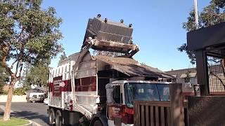 Edco Trash Truck front loader #776 Autocar Asl of Lakewood California