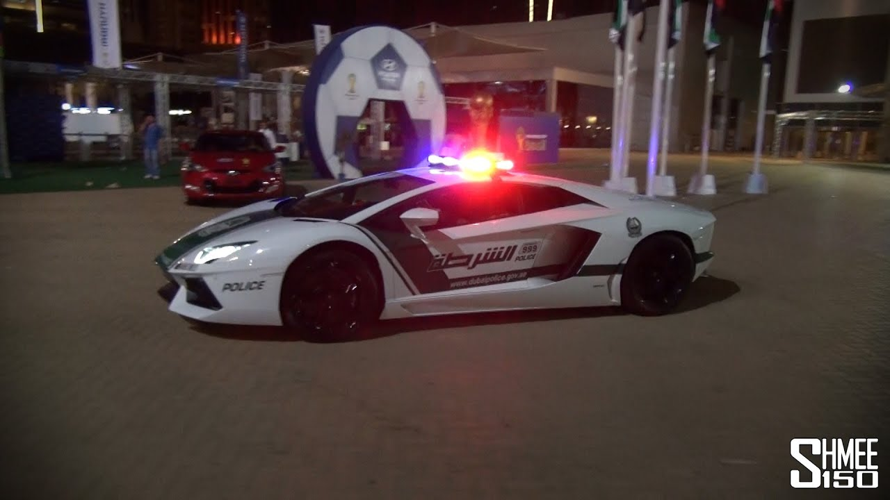 Dubai Police Supercars In Action Brabus B63s Aventador