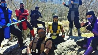Mortal Kombat Ninjas Take Over NYC (Crazy Flash MOB!)