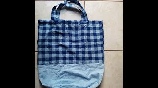 Foldable shopping bag Tutorial