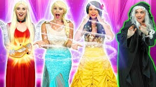 DISNEY PRINCESS MAGIC DANCE. (IS THERE A SPELL ON ELSA AND BELLE?) Totally TV