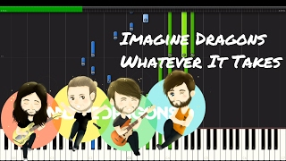 Download Lagu Imagine Dragons - Whatever It Takes Piano Tutorial Gratis STAFABAND