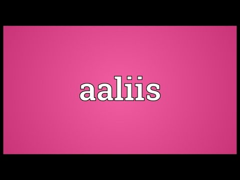 Header of Aaliis