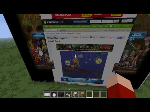 Minecraft Mod Showcase - Web Displays - The internet... IN MINECRAFT!