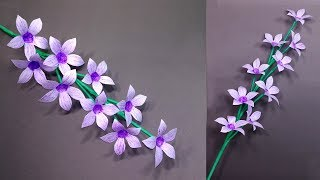 How to Make Very Beautiful Paper Stick Flower | Stick Flower: Handcraft | Jarine's Crafty Creation