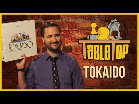 Tokaido: Jason Wishnov. J. August Richards. and Chris Kluwe join Wil Wheaton on TableTop S03E01