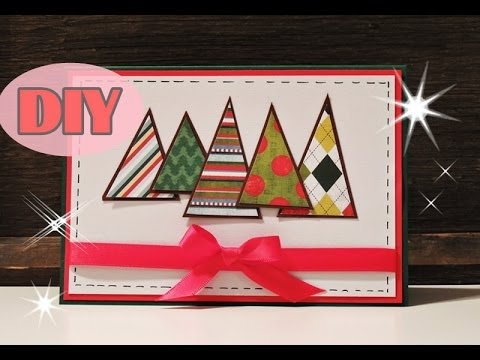 weihnachtskarten selber basteln 2 weihnachtsbaum christmas card diy youtube. Black Bedroom Furniture Sets. Home Design Ideas