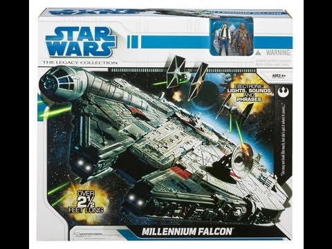Star Wars Halcon Milenario Legacy Collection Review en Español Millennium Falcon Toys