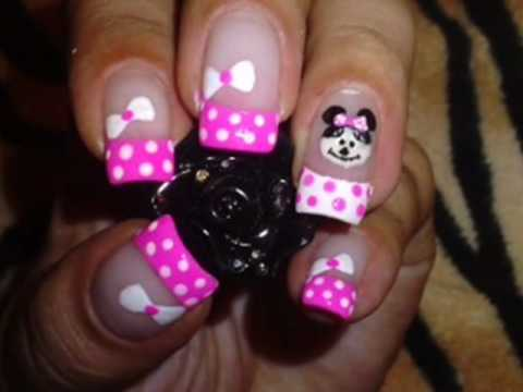 Minnie Mouse nails !! 3 entry to Bajanspice1978 2nd subscriber contest !!
