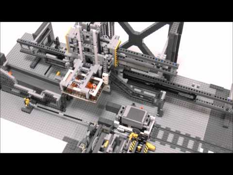 LEGO Automatic Crane Loader for GBC Train