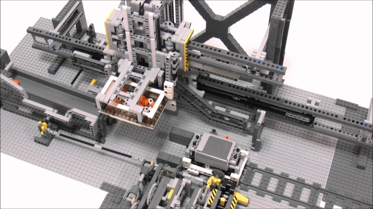 Lego Crane Train Lego Automatic Crane Loader