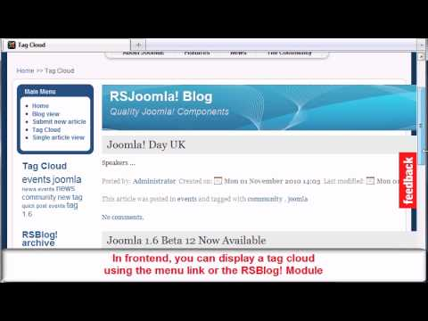 Ep 38 RSBlog! -Joomla! blogging extension frontend overview