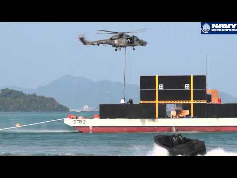 LIMA 2015 Maritime Commando Demonstration PASKAL Special Forces Royal Malaysian Navy Langkawi