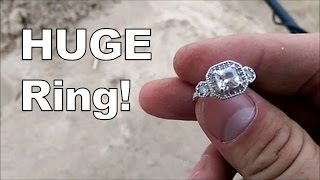 Huge ring found metal detecting Lake Michigan beach!
