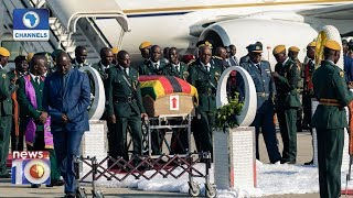 Body Of Robert Mugabe Arrives In Harare