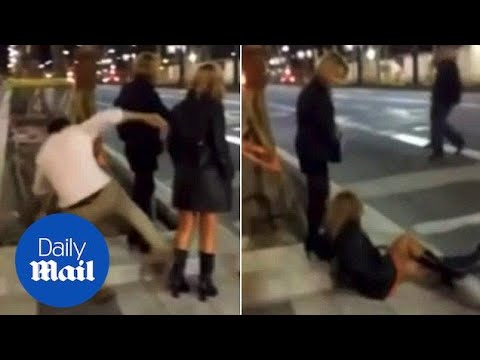 Prankster kicks random woman from behind causing injuries - Daily Mail