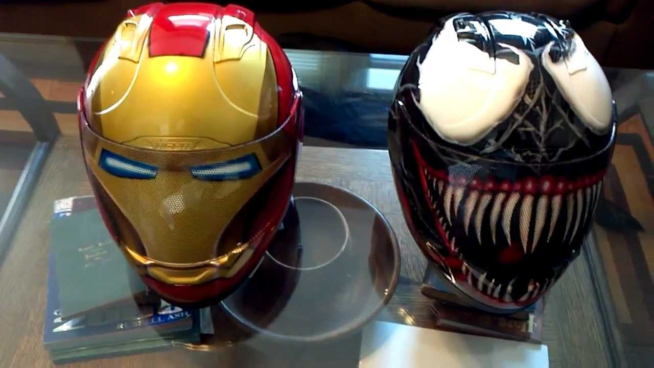 Venom Motorcycle Helmet Ironman And Venom Helmet