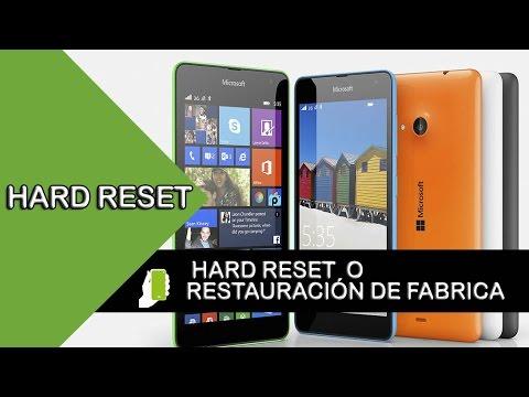 Nokia Lumia 535  HARD RESET  O  Restauración De Fabrica