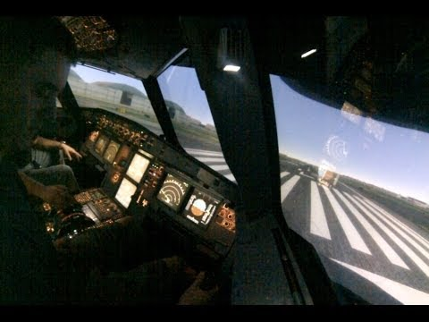 Airbus A320 Full Motion Simulator Takeoff from New York JFK
