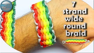 How to Make a Paracord Bracelet 7 Strand Wide Round Braid Mad Max Style DIY Paracord Tutorial