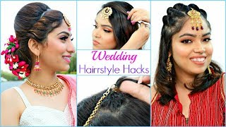 Easy HAIRSTYLE Hacks For WEDDING Season | #Bridal #Party #Anaysa