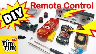 How to make world's smallest Lightning McQueen Mini RC Car at home | CARS 3 | Easy DIY