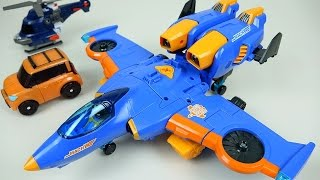 TOBOT Airplane 또봇 마하 W - TOBOT transformers car and plane toys