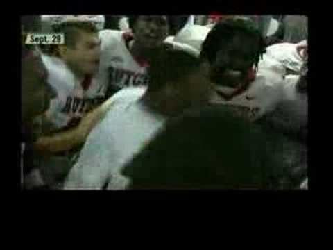 This is Rutgers own Eric Foster postgame locker room chant from September 29th against USF.. this is from the famous brodo.