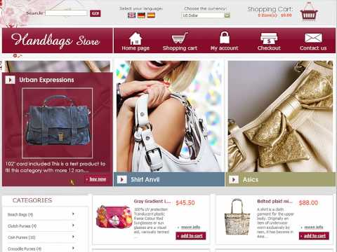 0 Handbags Store eCommerce template