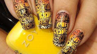 Halloween Pumpkin Nail Art Tutorial!!! 🎃🎃🎃🎃