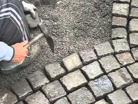 Pflaster in splitt verlegen youtube - Gartenweg pflastern ...