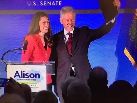Bill Clinton Supports Kentucky Democrat Alison Grimes for Senate