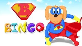BINGO Dog Song - Best Nursery Rhyme With Lyrics - Popular Songs for Children