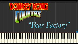 Donkey Kong Country - Fear Factory (Piano Tutorial Synthesia)