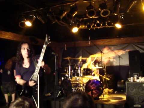 Obituary drum solo + guitar solo live Blondies Detroit 2 June 2010
