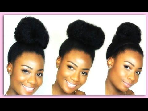 3 Ways to Do a Bun On Natural Hair Tutorial - NaturallyGG