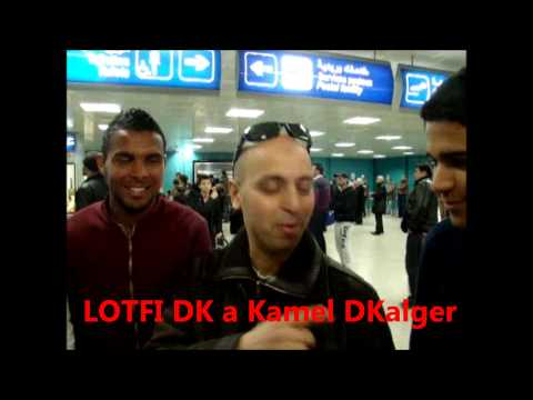 LOTFI DOUBLE KANON ddicace  Kamel DKalger a l'aroprt de tunis  2013